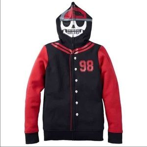 Boys M skull hoodie by Hawk in excellent condition
